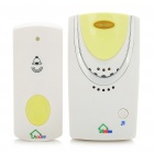32-Melody Wireless Water Resistant Doorbell - White + Yellow (Volume Adjustable)