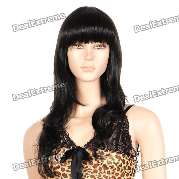 Fashion Long Curly Hair Wigs - Black game of thrones jon snow wigs black curly synthetic hair