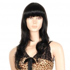 Fashion Long Curly Hair Wigs - Black