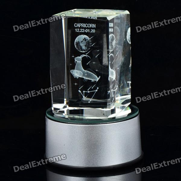 AC/USB/3xAAA Powered Multicolored Whirling Crystal Zodiac Decoration Lamp - Capricorn