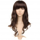 Fashion Long Wavy Hair Wigs - Dark Brown