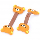 Cute Rilakkuma Style Earphone Cord Cable Winder Organizer - Brown (Pair)