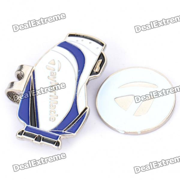 Golf Cap Clip + Golf Ball Marker Set