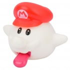 Cute Super Mario Galaxy Ghost Mario with Red Hat Doll Toy