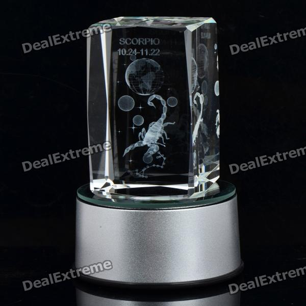 AC/USB/3xAAA Powered Multicolored Whirling Crystal Zodiac Decoration Lamp - Scorpio