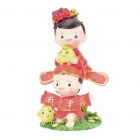Cute Chinese Style Couple's Resin Display Toy Doll - I Love Wife