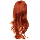Fashion Long Wavy Hair Wigs - Maroon