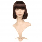 Fashion Short Straight Hair Wigs - Brown
