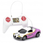 Cool 2-CH R/C 49MHz 1:32 Scale Plastic Racing Car (White + Purple)