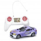 Cool 2-CH R/C 49MHz 1:32 Scale Plastic Racing Car (Purple + Silver)