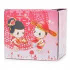 Cute Chinese Style Couple's Resin Display Toy Doll - Standing in The Flowers