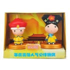 Cute Chinese Style Couple's Resin Display Toy Doll - Emperor and Empress