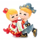 Cute Korean Style Couple's Resin Display Toy Doll - Hugging Bride and Bridegroom