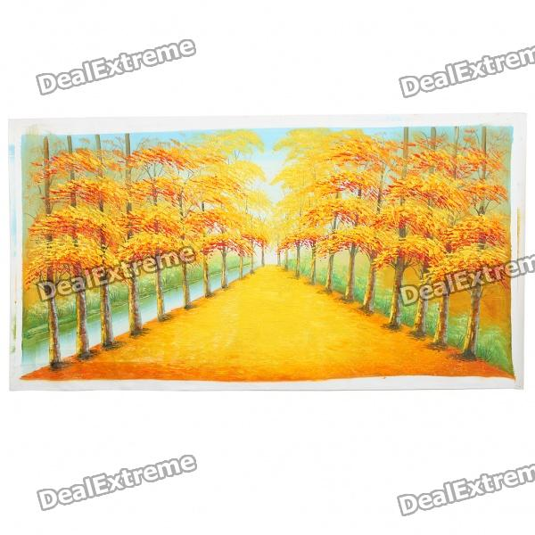 Hand Painted Autumn Path Oil Painting