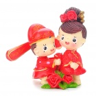 Cute chinesischen Stil des Paares Resin Display Toy Doll - Standing In The Flowers