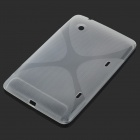 Protective TPU Case for HTC Flyer - Transparent White