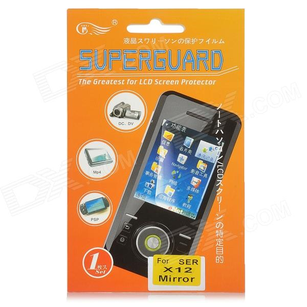 Mirror LCD Screen Protector/Guard with Cleaning Cloth for Sony Ericsson X12 sony ericsson t700i красный магазины