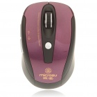2.4GHz 1800DPI Wireless Optical Mouse with USB Receiver - Purple + Black (2 x AAA)
