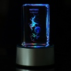 Creative 7-LED Colorful Lights 3D Rotating Crystal Sagittarius