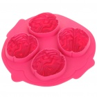 Silicone Brain Shaped Ice Cube Tray Mold (Random Color)