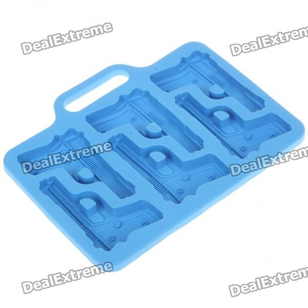 Silicone Gun Shaped Ice Cube Tray Mold (Random Color) silicone skeleton shaped ice cubes trays maker diy mould random color