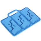 Silicone Gun Shaped Ice Cube Tray Mold (Random Color)