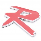 Decorative R Style Car Sticker - Red + Silver