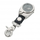 Trendy Outdoor Style Water Resistant Sport Keychain Watch with Magnifier - Black + Silver (1x377)