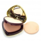 Elegant Heart Shaped Cosmetic Make-Up Dry/Wet Powder Sets - Dark Color