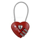 Cupid Combination Heart Pad-lock