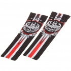 Skull Pattern Outdoor Sports Bicycle Sun Protection Arm Sleeves Covers - Black (Pair/Size S)