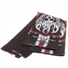 Skull Pattern Outdoor Sports Bicycle Sun Protection Arm Sleeves Covers - Black (Pair/Size M)