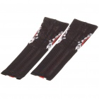 Skull Pattern Outdoor Sports Bicycle Sun Protection Arm Sleeves Covers - Black (Pair/Size XXL)