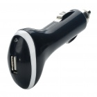 Compact Car Cigarette Powered Charging Adapter for Cell Phone/MP3/MP4 - Black