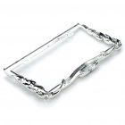 Fashion License Plate Frame - Silver