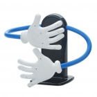 Car Flexible Hug Design Cell Phone Holder Stand - White + Blue + Black