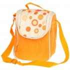Fashion Outdoor Picnic Cooler Bag with Food Storage Box + Spoon + Napkin Cloth - Orange
