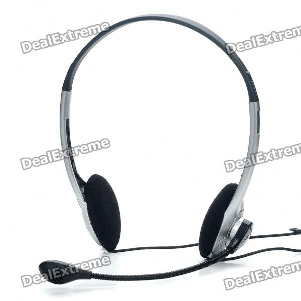 PC/Laptop Headphone with Microphone & Volume Control (3.5mm Jack/210CM Cable)