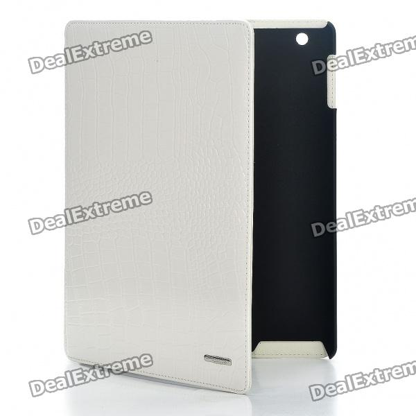 Protective Crocodile Grain Genuine Leather Case for   Ipad 2 - White - DXCases for Ipad<br>Color: White - Material: genuine leather - Give you the optimum viewing angle for watching movies and photos - Protects your Ipad 2 against scratches dust and shock - Designed specifically for Ipad 2<br>