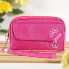 Storage Pouch Bag for Cell Phone/MP3/MP4/Small Gadgets - Pink
