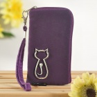 Storage Pouch Bag for Cell Phone/MP3/MP4/Small Gadgets - Purple