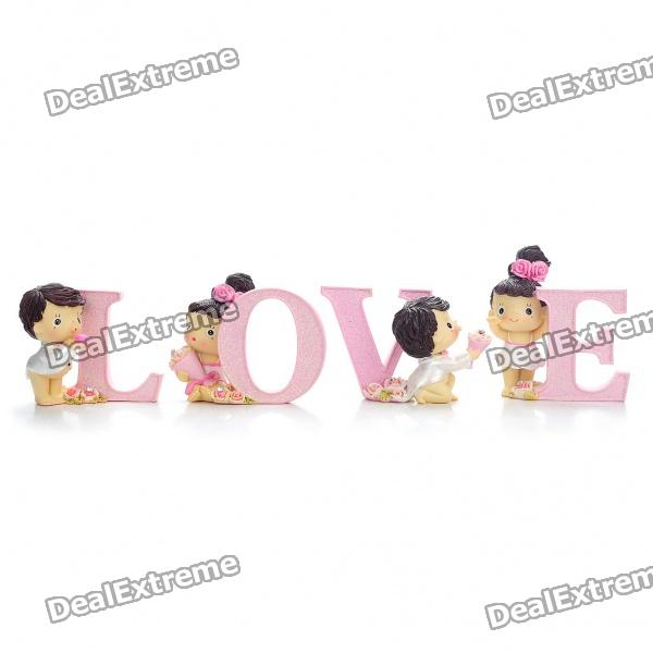 Valentine's Day Gift - Resin Love Desk Doll Ornaments (4-Piece Pack)