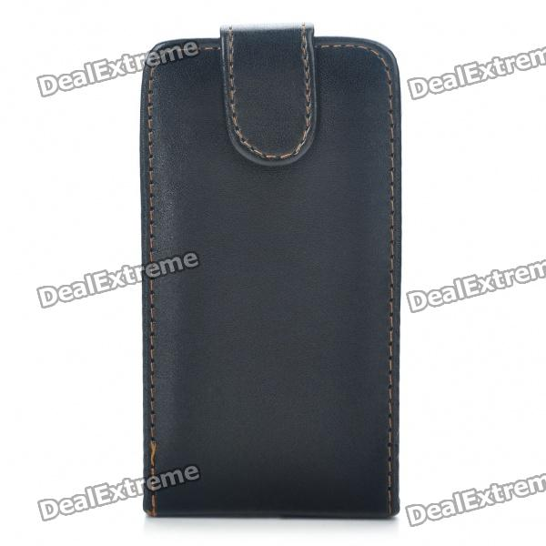 Protective PU Leather Cover Plastic Case for Samsung i9100 Galaxy S2 - Black