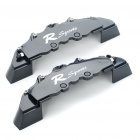 "Brake Caliper Covers Kit for Front Wheel 16"" and Over- Black (Pair)"