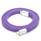 1080P HDMI V1.4 Male to Male Flat Connection Cable - Purple (3M-Length)