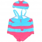 Cute Bee Shaped Children Swimming Dress Set - Random Color (Swimsuit + Swimming Cap)