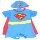 Superman Style Children Swimming Dress Set (Swimsuit + Swimming Cap + Cloak)