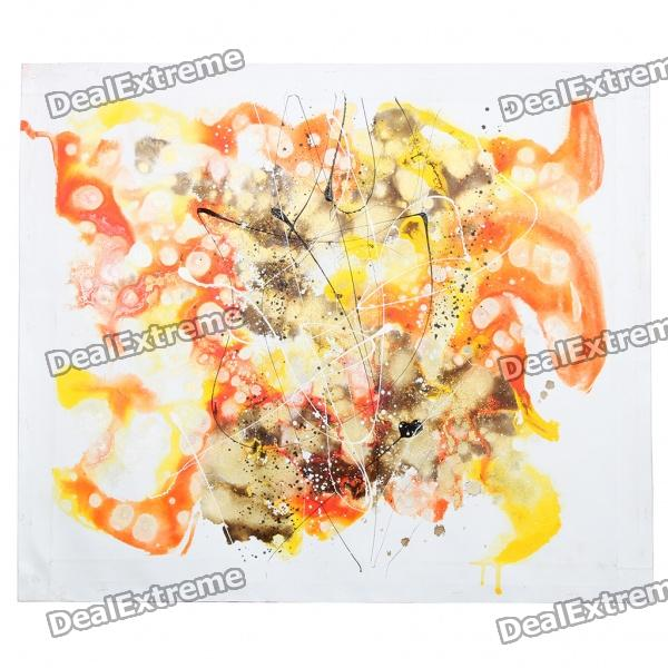 Hand Painted Abstract Oil Painting - Multicolour