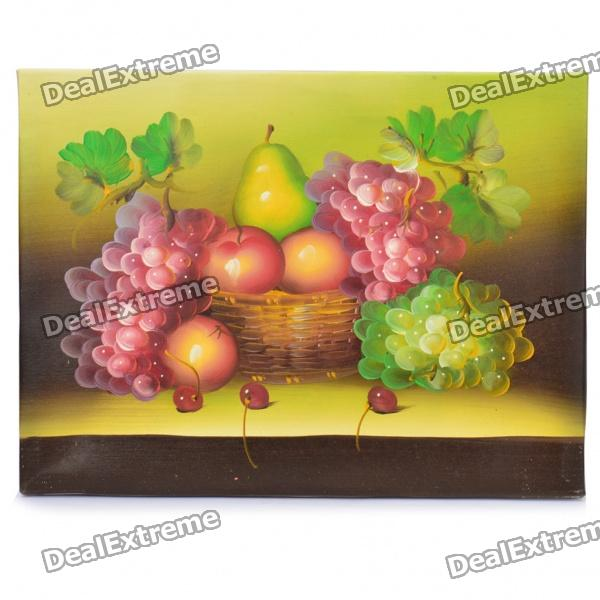 Handmade Hand Painted Oil Painting with Wood Frame - Fruits