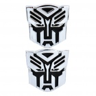 Stylish PVC Car Decoration Stickers - Autobot Transformer Pattern (Pair)